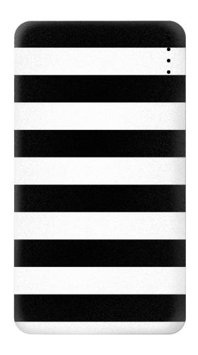 Printed Black and White Striped Power Bank 4000mAh Case