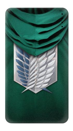 Printed Attack on Titan Scouting Legion Rivaille Green Cloak Power Bank 4000mAh Case