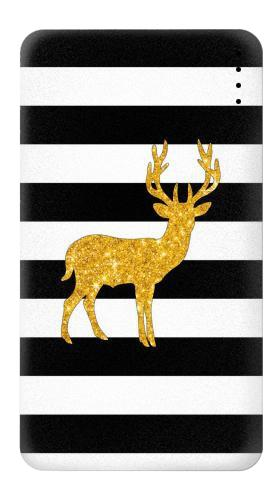 Black and White Striped Deer Gold Sparkles Iphone6 Case