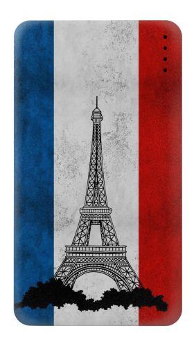 Vintage France Flag Eiffel Tower แบตเตอรี่สำรอง