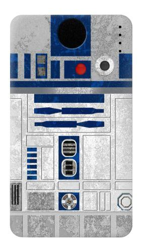 Printed Vintage R2D2 Minimalist Power Bank 4000mAh Case