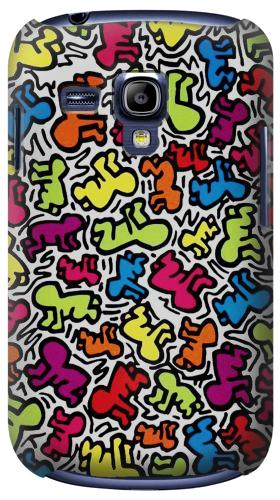 Printed Keith Haring Baby Pattern Samsung Galaxy S3 mini Case