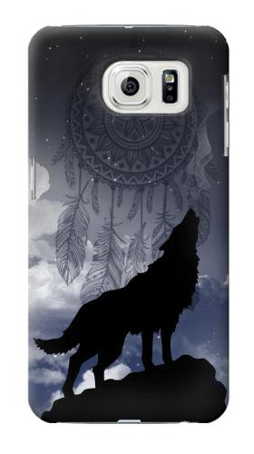 Printed Dream Catcher Wolf Howling Samsung Galaxy S7 edge Case