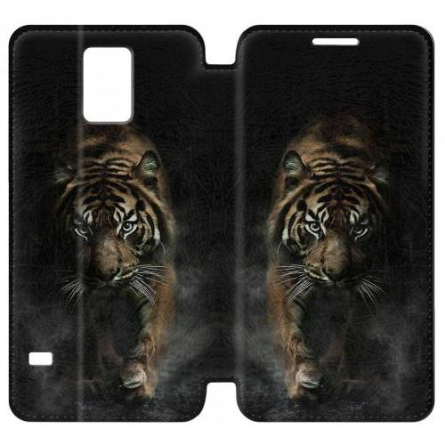 Flip PU Stand Bengal Tiger Phone Case for Samsung Galaxy Note 4