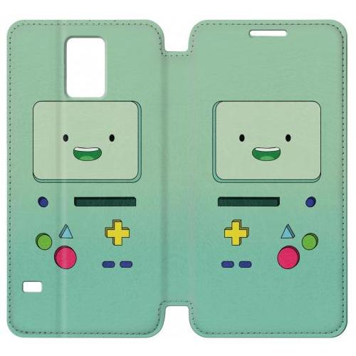 Flip PU Stand Adventure Time Bibo Phone Case for Samsung Galaxy Note 4