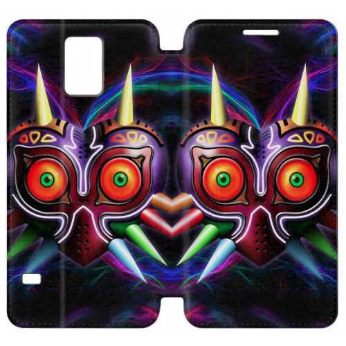 Flip PU Stand The Legend of Zelda Majora Mask Phone Case for Samsung Galaxy Note 4