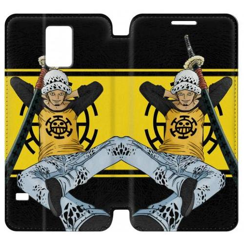 Flip PU Stand One Piece Trafalgar Law Phone Case for Samsung Galaxy Note 4