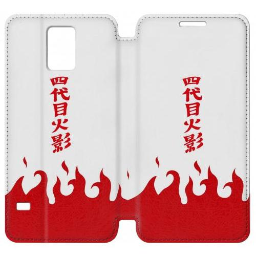 Flip PU Stand Naruto Yondaime 4th Hokage Minato Namikaze Cloak Phone Case for Samsung Galaxy Note 4