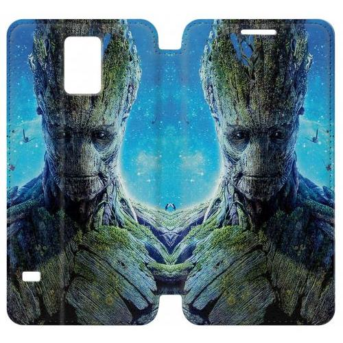 Flip PU Stand Groot Guardians of the Galaxy Phone Case for Samsung Galaxy Note 4