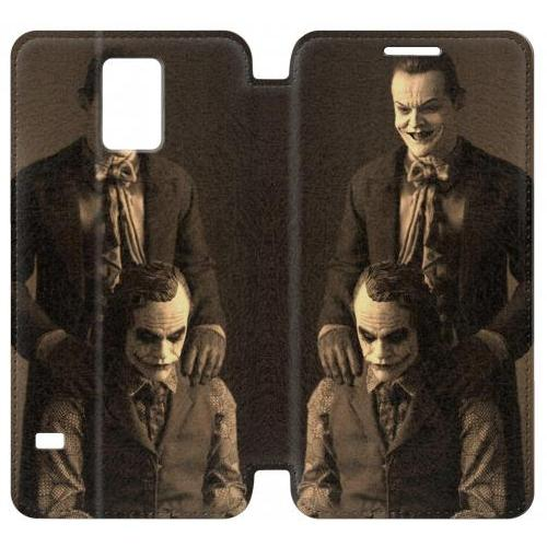 Flip PU Stand Jokers Together Phone Case for Samsung Galaxy S5