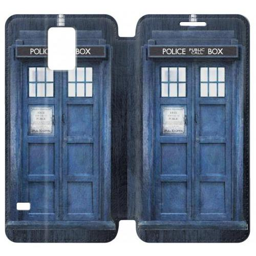 Flip PU Stand Doctor Who Tardis Phone Case for Samsung Galaxy S5