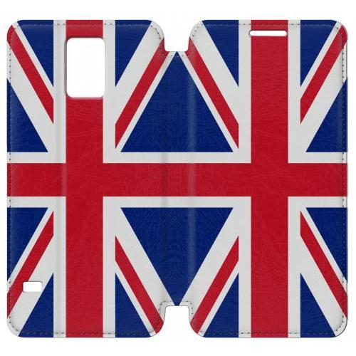 Flip PU Stand Flag of The United Kingdom Phone Case for Samsung Galaxy S5