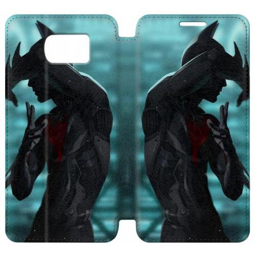 Flip PU Stand Batman Beyond Phone Case for Samsung Galaxy S6