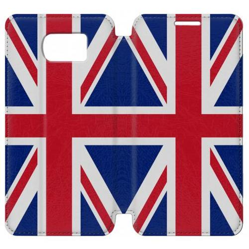 Flip PU Stand Flag of The United Kingdom Phone Case for Samsung Galaxy S6