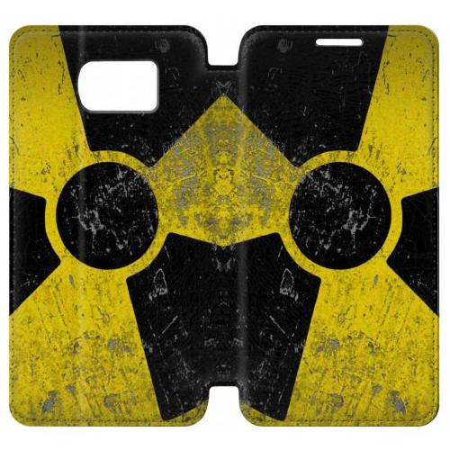 Flip PU Stand Nuclear Phone Case for Samsung Galaxy S7