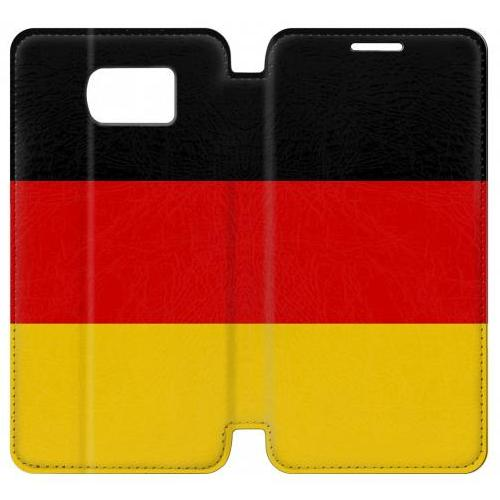 Flip PU Stand Flag of Germany Phone Case for Samsung Galaxy S7