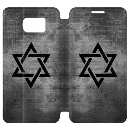 Flip PU Stand Judaism Star of David Symbol Phone Case for Samsung Galaxy S7