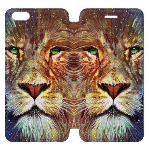 Flip PU Stand Lion Phone Case for IPHONE 6 PLUS