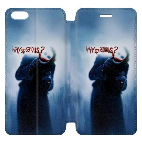 Flip PU Stand Batman Joker Why So Serious Phone Case for IPHONE 7 PLUS