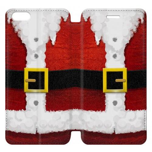 Flip PU Stand Christmas Santa Red Suit Phone Case for IPHONE 7 PLUS