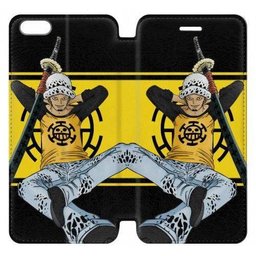 Flip PU Stand One Piece Trafalgar Law Phone Case for IPHONE 5