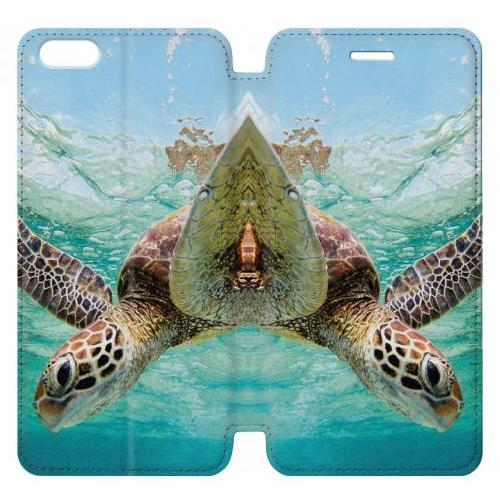 Flip PU Stand Ocean Sea Turtle Phone Case for IPHONE 7