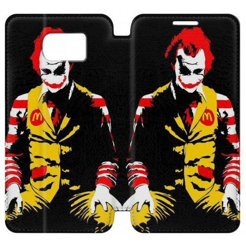 Flip PU Stand Mc Donalds Joker Phone Case for Samsung Galaxy S6 edge