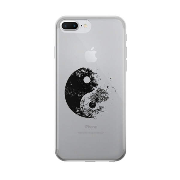 Clear Moon Yin-Yang Iphone 7 plus Transparent Case