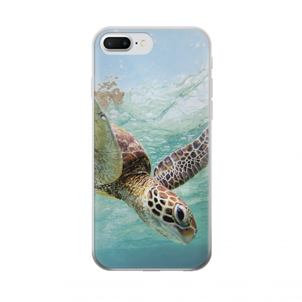 Clear Ocean Sea Turtle Iphone 7 plus Transparent Case