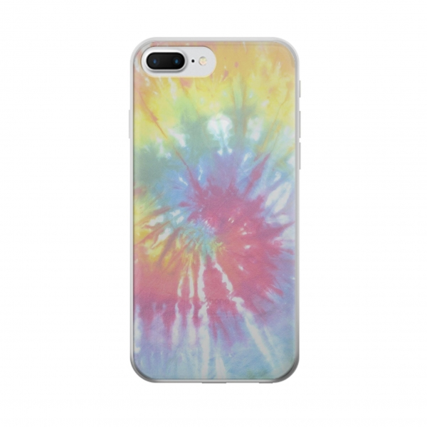Clear Tie Dye Colorful Graphic Printed Iphone 7 plus Transparent Case