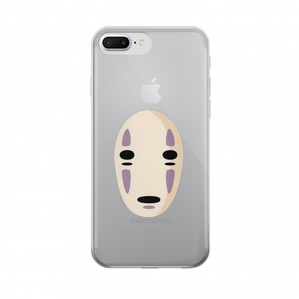 Clear Spirited Away No Face Iphone 7 plus Transparent Case