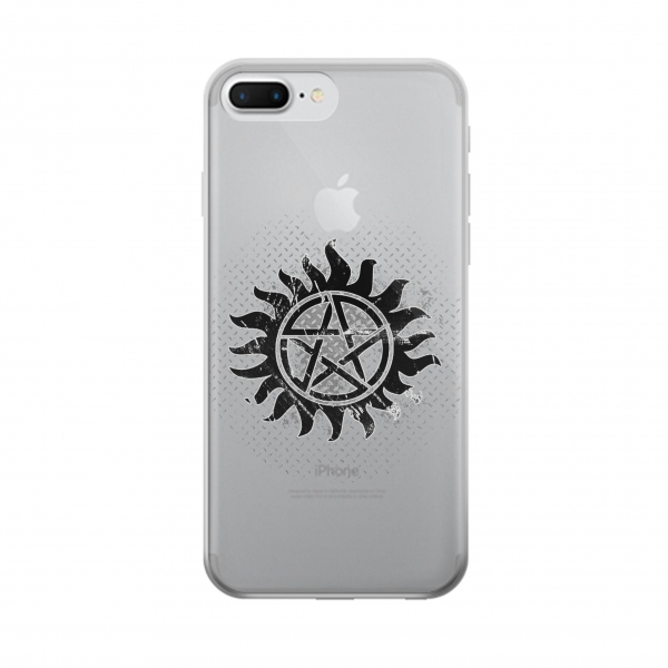 Clear Supernatural Antidemonpos Symbol Iphone 7 plus Transparent Case