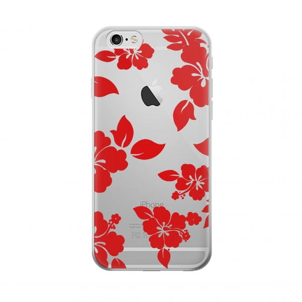 Clear Hawaiian Hibiscus Pattern Iphone 6 Transparent Case
