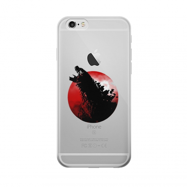 Clear Godzilla Japan Flag Iphone 6 Transparent Case
