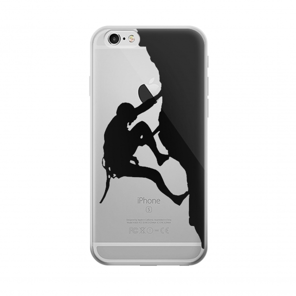 Clear Mountain Climber Climbing Iphone 6 Transparent Case