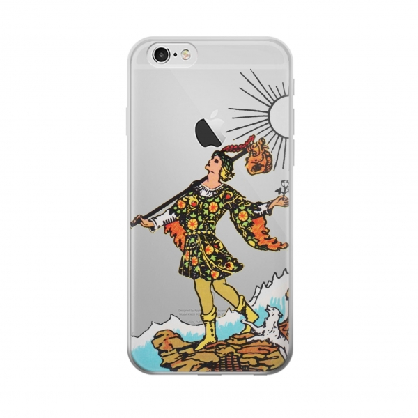 Clear Tarot Card The Fool Iphone 6 Transparent Case