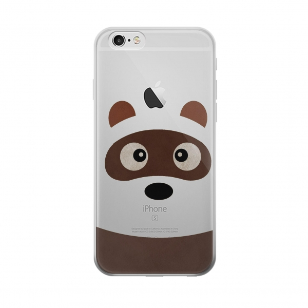 Clear Cute Cartoon Raccoon Iphone 5 Transparent Case