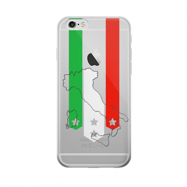 Clear Italy Football Flag Iphone 6 Transparent Case