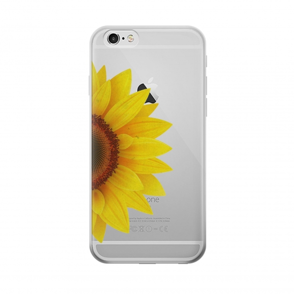 Clear Vintage Sunflower Blue Iphone 6 Transparent Case