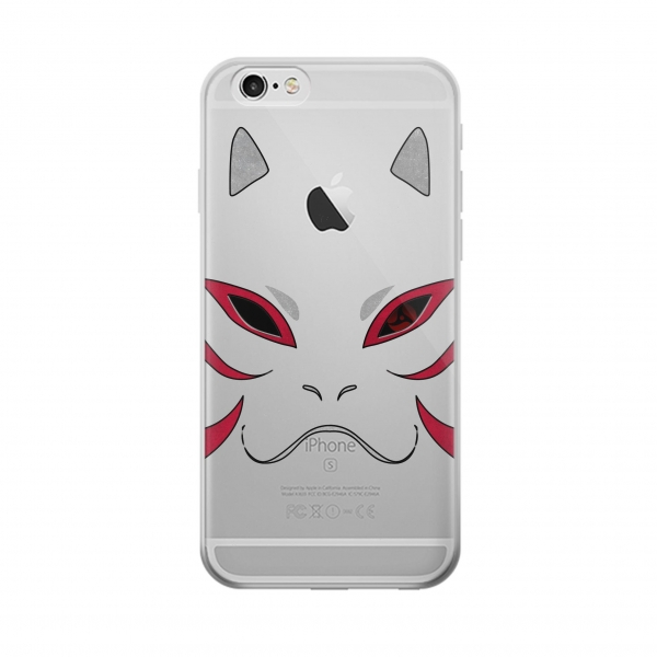 Clear Naruto Kakashi Hatake Anbu Mask Iphone 6 Transparent Case