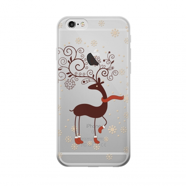 Clear Wooden Raindeer Iphone 5 Transparent Case