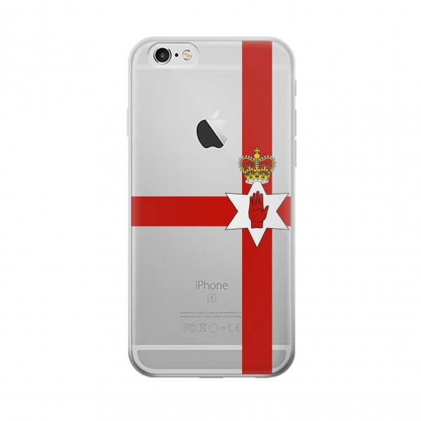 Clear Flag of Northern Ireland Iphone 5 Transparent Case
