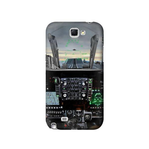 Fighter Jet Aircraft Cockpit Phone Case Cover for Samsung Galaxy Note II