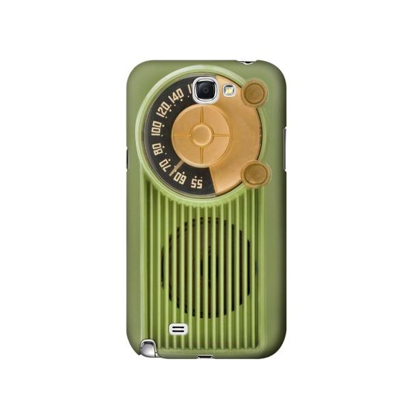 Vintage Bakelite Radio Green Phone Case Cover for Samsung Galaxy Note II