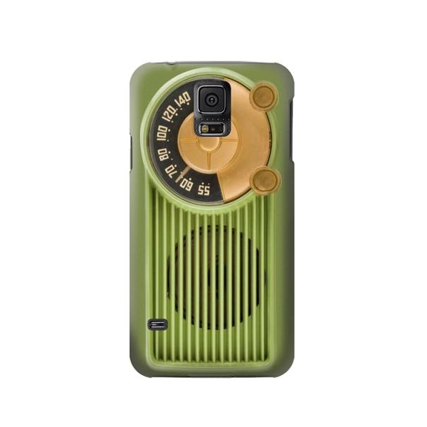 Vintage Bakelite Radio Green Case