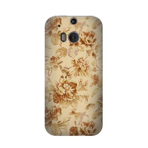 Flower Floral Vintage Pattern Phone Case Cover for HTC One M8