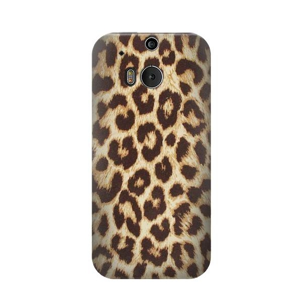 Leopard Pattern Graphic Printed Phone Case Cover for HTC One M8