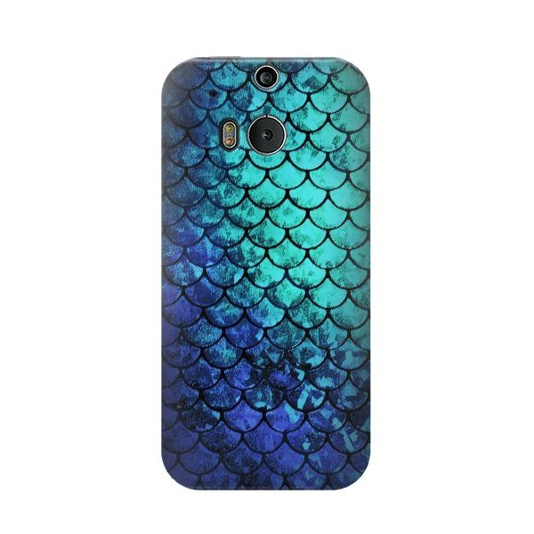 Green Mermaid Fish Scale Case