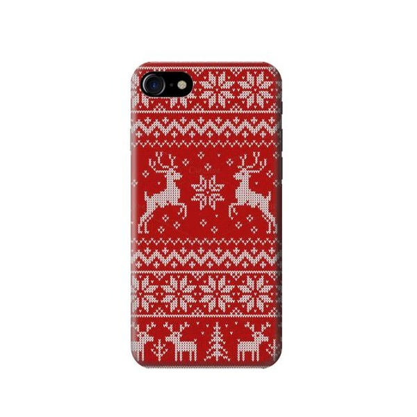 christmas reindeer knitted pattern phone case cover for iphone 7