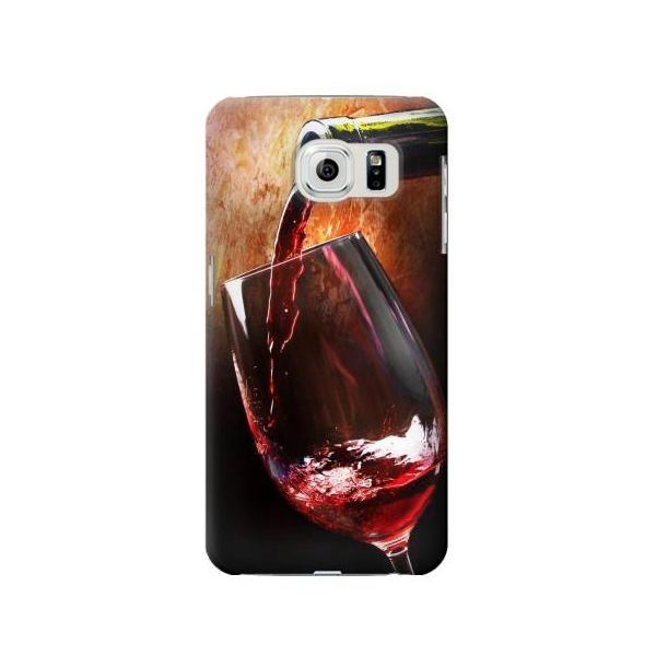 Red Wine Bottle And Glass Phone Case Cover for Samsung Galaxy S6 edge